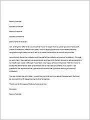 resignation letters   documents in word  samplenursingresignationletter