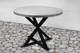 custom made kensington round zinc dining table