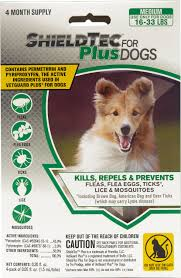 Designed 4 Dogs Shieldtec Plus Flea Tick Treatmnet For Dogs 16 33 Lbs 4 Treatments