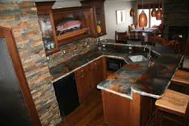 Stone Kitchen Kitchen Amazing Grey Stone Kitchen Countertops With Brown Wooden