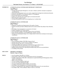 cv financial controller junior financial controller resume samples velvet jobs