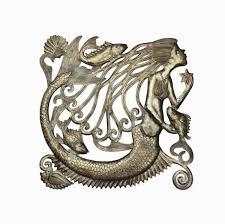 it mermaid metal wall art