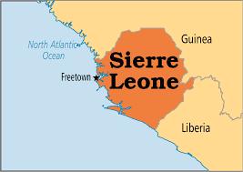 Image result for sierra leone world map