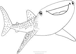 Disegno Di Destiny Lo Squalo Balena Alla Ricerca Di Dory Da Colorare