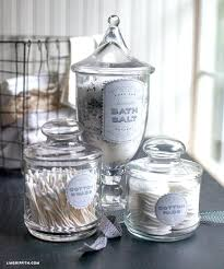 bathroom glass jars astonishing bathroom best apothecary jars ideas on spa glass bathroom glass containers