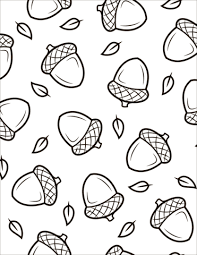 Pattern With Acorns Coloring Page Free Printable Coloring Pages