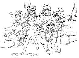 Free Manga Coloring Pages