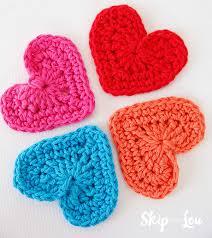 Heart Crochet Pattern Impressive Easy Crochet Heart Garland Pattern Skip To My Lou