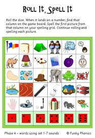 So far you can see we have a variety of sets of worksheets that deal with beginning sounds and phonics is obviously an important early developmental skill for children to start learning and our worksheets can help kids learn phonics. Phase 4 Roll It Spell It Phonics Preschool Phonics Phonics Games Eyfs