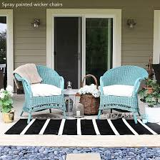 painted wicker furnitureWe caved and got a spray gun  again  So Much Fun  with video