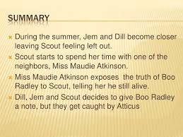 to kill a mockingbird chapter  summary  during