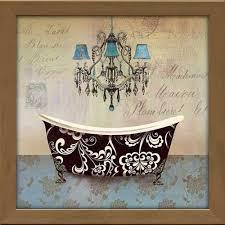 french vintage bath ii on vintage bath wall art with french vintage bath ii framed canvas art