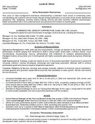 Department Store Manager Resumes Store Manager Cv Template Resume Spacesheep Co