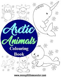 We draw animals for colouring almost daily. Arctic Animal Colouring Pages Messy Little Monster