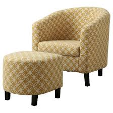 chair ottoman. accent chair and ottoman - yellow circles everyroom