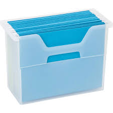 File holder box Supplies Hanging File Storage Box Image Organizeit Hanging File Storage Box In File Storage Boxes