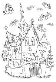 Dessin A Colorier Dune Maison Hantee Pour Halloween L