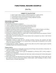 Functional Resume Sample Customer Service | Nfcnbarroom.com