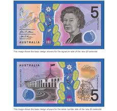 5 Dollar Design Colorful Vomit Like Australian 5 Note Unveiled