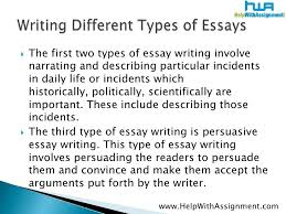 how many type of essay writing types of essays writig guides and topics essay info