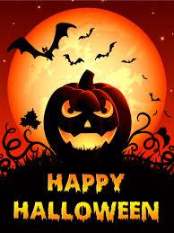 Spooky Smile Halloween Pumpkin Card Birthday Greeting