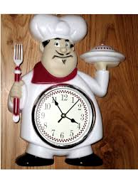 Italian Chef Decorations Kitchen Fat Italian Chef Kitchen Wall Clock Red White 2195 Fat Chefs