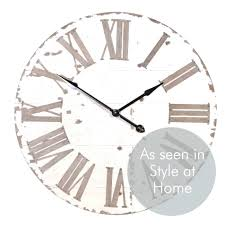 wall clock for kitchen clocks cream large uk