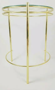 art deco tempered glass top gold finish