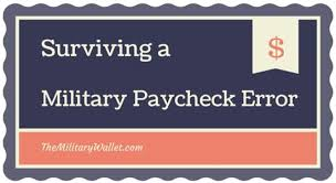 Surviving A Military Paycheck Error Where To Get Help
