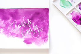 Watercolor thank you cards Diy Watercolor Diy Watercolor Thank You Card Designsponge Diy Watercolor Thank You Cards Designsponge