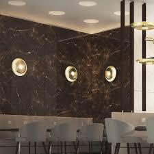 contemporary wall light  brass  incandescent  round  hendrix