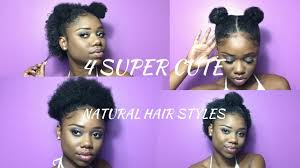 Super Cute Hairstyles For Short Natural Hair Half Up Space Bun