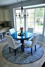 kitchen table rug rug size for dining room