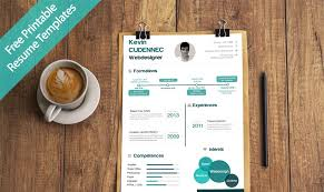 creative free printable resume templates to get a job  creative free printable resume templates to get a dream job