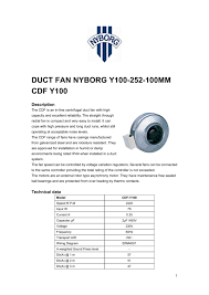 duct fan nyborg y100 252 100mm nyborg as pdf catalogues duct fan nyborg y100 252 100mm 1 18 pages