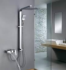 Homelody Trennbar Duschsystem Mit Messing Duschpaneel Duscharmatur Regendusche Mit Armatur Wasserhahn 3 Funktion Wasserablauf Duschset Rainshower