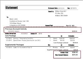Statement Of Invoices Printing Invoices Or Statements