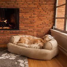 snoozer overstuffed luxury dog sofa microsuede fabric