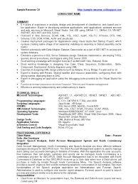 Dot Net Developer Net Developer Sample Resume Cv Microsoft