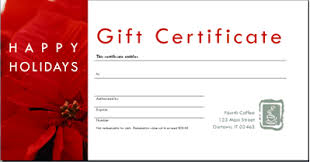 Holiday Gift Certificate Happy Holidays Gift Certificate Template Hashtag Bg
