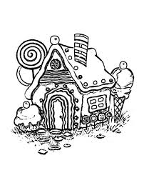 Small Picture Coloring Pages Gingerbread House Coloring Pages Printable