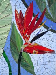 paradise mosaic wall art stained glass