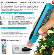 Allsun Christmas Light Tester Non Contact Voltage Tester Light Bulb Fuse Detector 12 600 V Ac Voltage Detector Christmas Light Fuse Checker Light