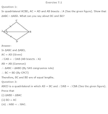 NCERT Solutions for Class 9th Maths: Chapter 7 Triangles | AglaSem ...
