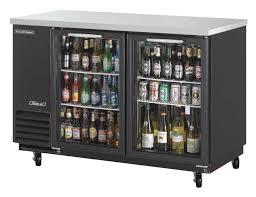 beverage air bb48hc 1 g s 48 2 section s s sliding glass door back bar cooler