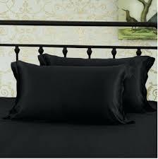 Black Satin Pillowcase Custom King Size Satin Pillowcase VaughnDesign