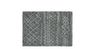 moroccan style wool berber rug 160 x 230cm in grey