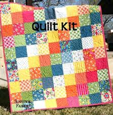 Baby Patchwork Quilt Kits Uk Baby Quilts Kits Buy Baby Quilt Kits ... & Baby Quilt Kits For Sale Best Day Ever Patchwork Baby Quilt Kit Simple  Quick Easy Sunnyside Adamdwight.com