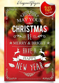christmas free template best free christmas and new year psd flyers to promote your event
