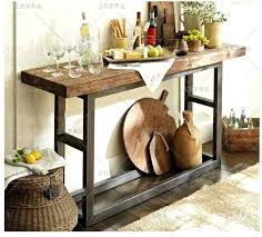 S Small Rustic Console Table Old Pine Loft Retro Wood To Do The  Wrought Iron Entrance Station Oak Hall